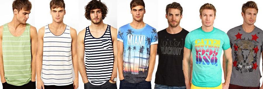 Мужские майки и футболки