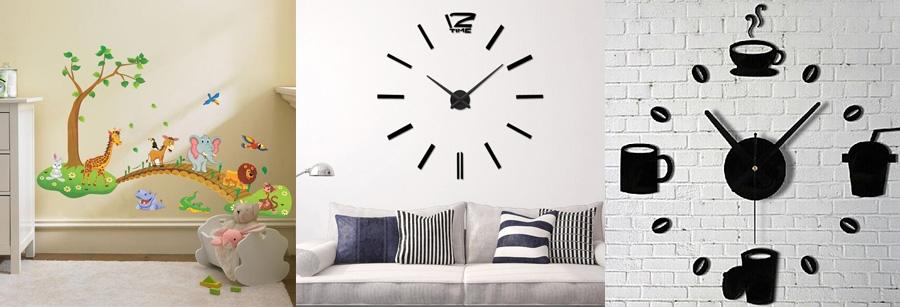 Часы и наклейки интерьерные