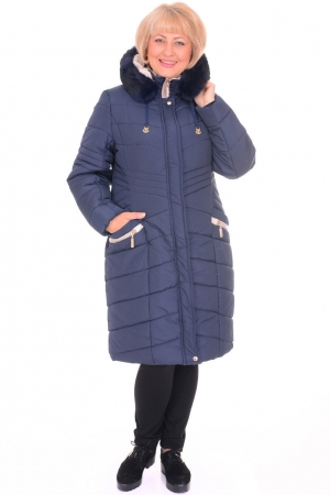 Пальто женское Amazonka 20004 синее