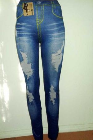 Леггинсы с рваным и потертым джинсовым дизайном AF