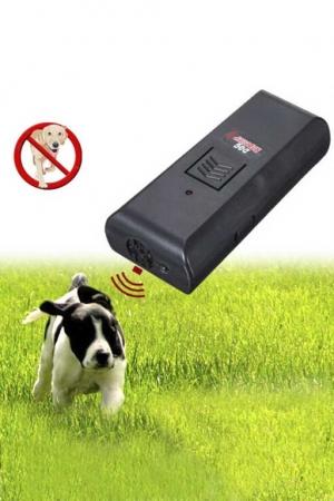 Ультразвуковой отпугиватель собак с фонариком и антилай