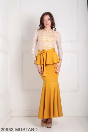 Женское платье Adelis 20933-MUSTARD