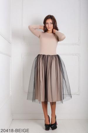 Женское платье Lashes 20418-BEIGE