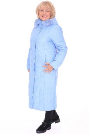Пальто женское Red Ocean 21018 голубое