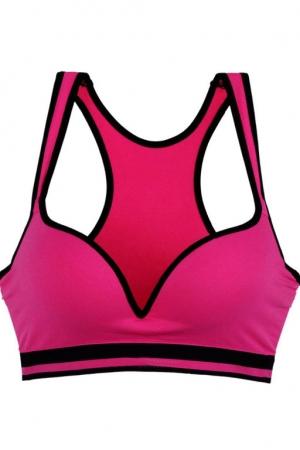 Спорт бюстгалтер - топ розовый