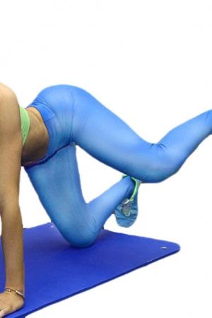 Леггинсы спортивные светло голубые
