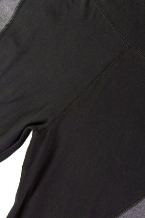 Леггинсы спорт матовые серо-черные
