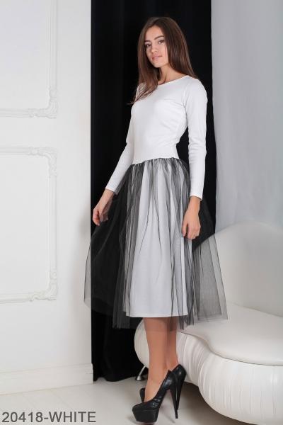 Женское платье Lashes 20418-WHITE