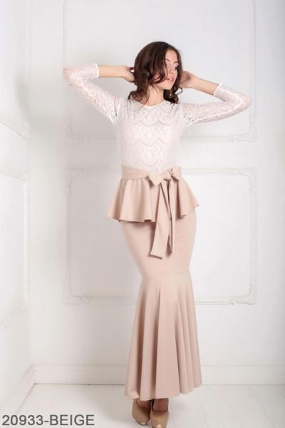 Женское платье Adelis 20933-BEIGE