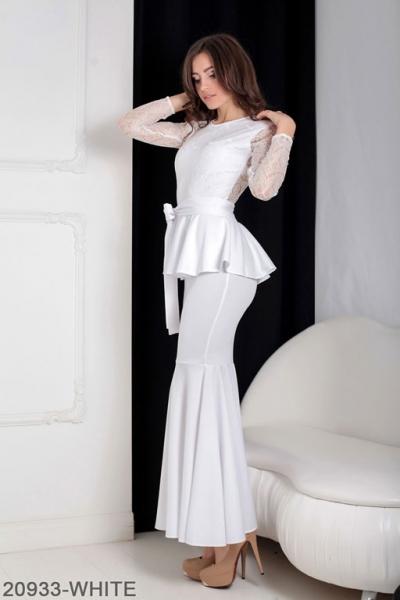 Женское платье Adelis 20933-WHITE