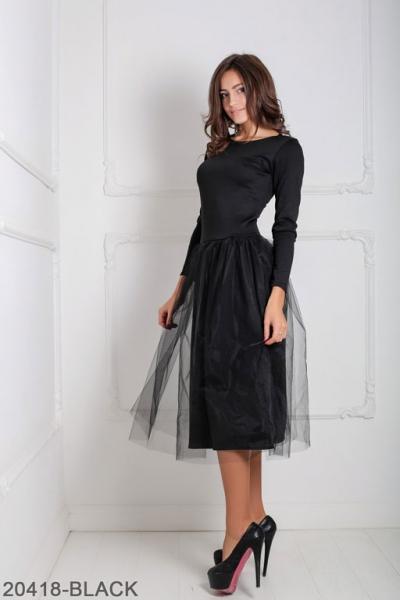 Женское платье Lashes 20418-BLACK