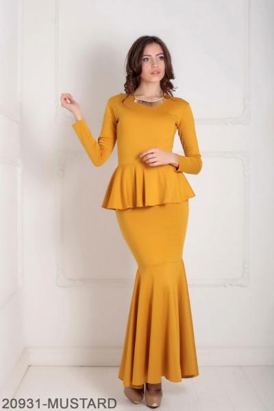 Женское платье Laura 20931-MUSTARD