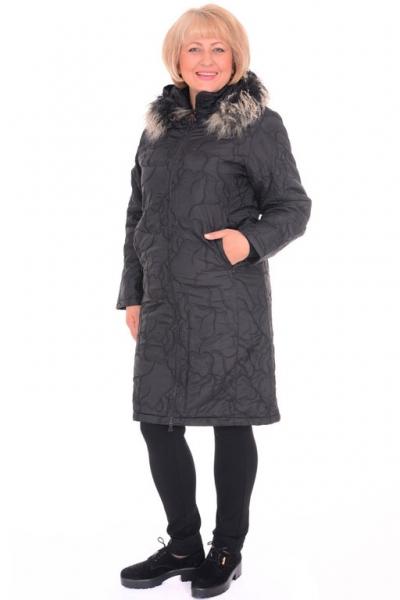 Пальто женское Toni Mode 21021 черное