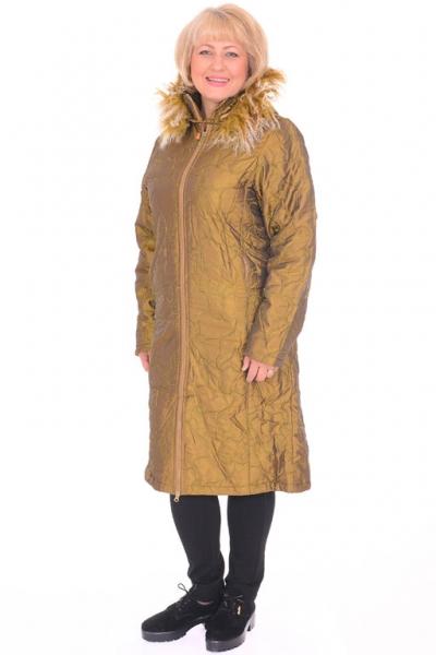 Пальто женское Toni Mode 21021 gold