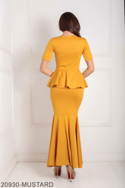 Женское платье Amalia 20930-MUSTARD