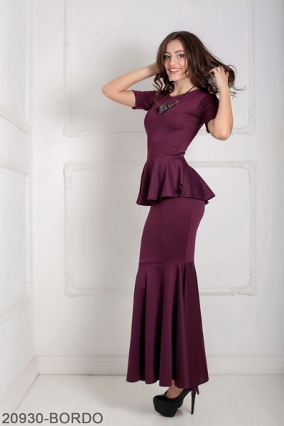 Женское платье Amalia 20930-BORDO
