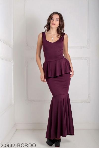 Женское платье Andrea 20932-BORDO