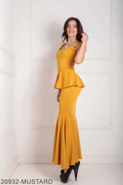 Женское платье Andrea 20932-MUSTARD