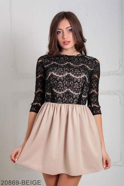 Женское платье Gledis 20869-BEIGE