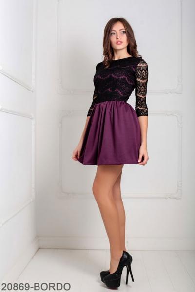Женское платье Gledis 20869-BORDO
