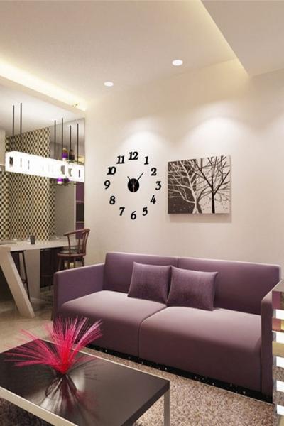 Настенные часы - стикеры арабские цифры с 3D-эффектом