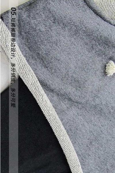 Леггинсы с шортами 2в1 утепленные т.серые