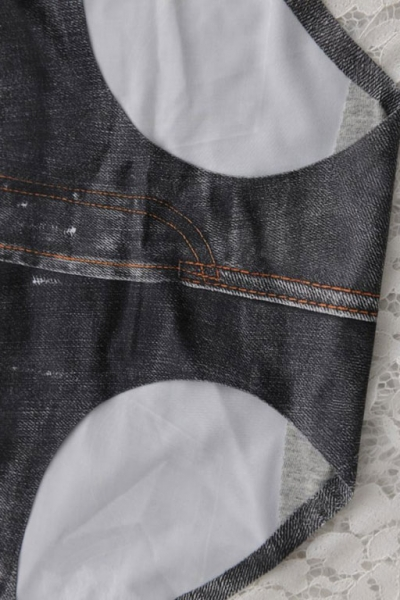 Шорты - трусики - плавки 3D Denim черные