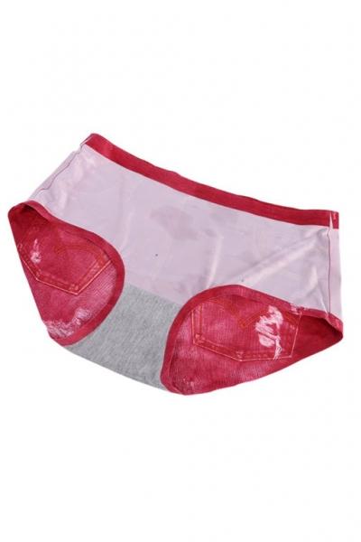 Шорты - трусики - плавки 3D Denim красные