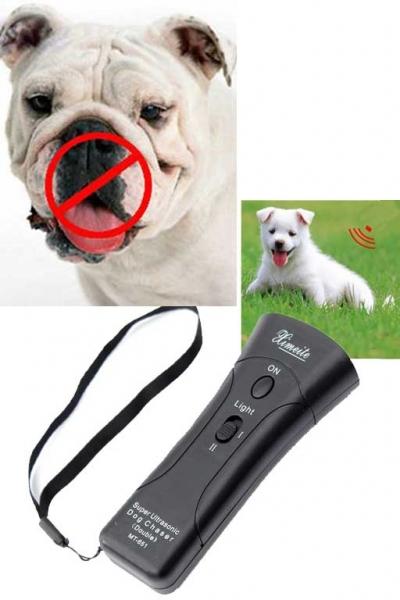 Ультразвуковой отпугиватель собак МТ-651 с лазером и LED фонариком