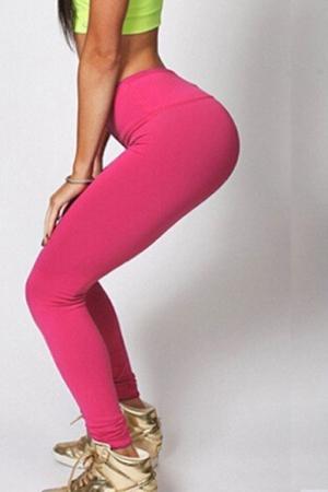 Леггинсы спортивные розовые